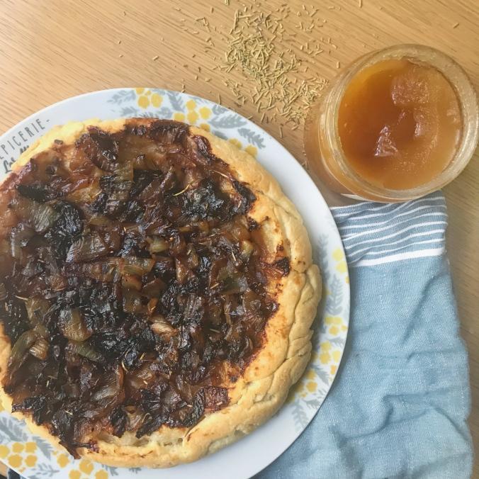 camille bavarde recette tarte tatin oignons caramélisés