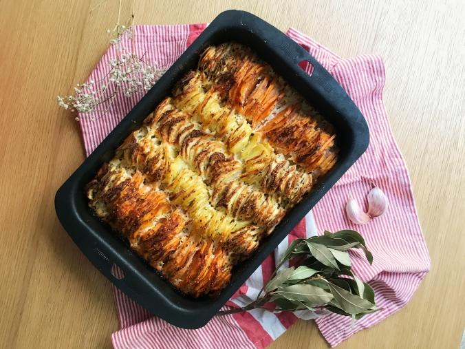 camille bavarde recette gratin patate douce panais pomme de terre