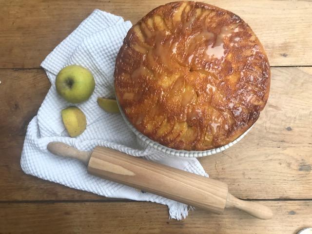 camille bavarde gateau aux pommes caramel au beurre salé recette